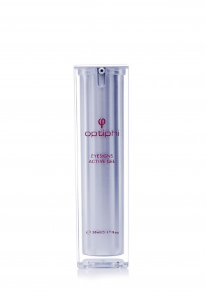 Optiphi Eyesigns Activegel 20ml Reduce Signs of Aging Around the Eyes Eyesigns Activegel is a complete solution that targets three major visual aspects of ageing around the eye area – lines, dark circles and puffiness.